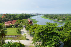 Thailand ancient waterfront home Royalty Free Stock Image