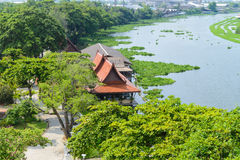 Thailand ancient waterfront home Stock Photo