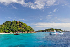 Thailand. Andaman sea. Similan. Diving boat Royalty Free Stock Images