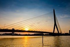 Thailand-Ansicht der Brücke Rama VIII und des Chao Pras Stockfotografie
