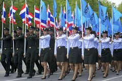 Thailand Army Corps Parade Royalty Free Stock Images
