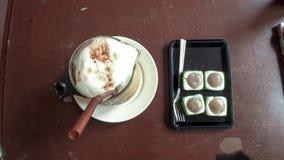 Thailand-Art gefror Kaffee mit Nachtisch Lizenzfreies Stockbild