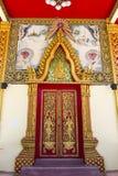 Thailand art temple door Royalty Free Stock Photography