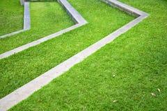 Thailand asia  abstract cross garden grass  the temple Stock Photos