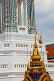 Thailand asia   in  bangkok  cross colors  roof wat      and  c Royalty Free Stock Image