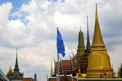 thailand asia   in  bangkok rain  blue flag      mosaic Royalty Free Stock Photography