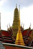 Thailand asia      in  bangkok rain    roof wat  palaces     sky Stock Image