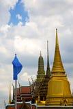 Thailand asia   in  bangkok rain  temple abstract blue flag Stock Photo