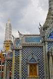 Thailand asia   in  bangkok    temple   roof wat  palaces Royalty Free Stock Image