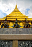 Thailand asia   in    roof wat  palaces     sky      and  color Royalty Free Stock Photo