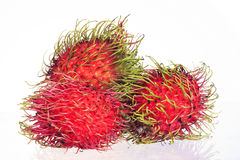 Thailand Asian rambutan isolated Royalty Free Stock Images