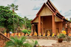 Thailand Asien, Ayuthaya, Wat Yai Chai Mongkhon, East Asia Royaltyfria Bilder