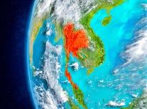 Thailand auf Erde vom Raum Lizenzfreie Stockfotos