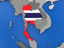 Thailand auf Kugel vektor abbildung