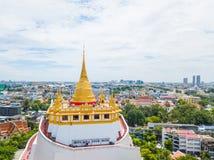 Thailand - 9. August 2017:: der goldene Berg in Wat Saket-Tempel Lizenzfreie Stockbilder
