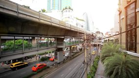 THAILAND 3 august 2015. Sky train in Bangkok with stock video footage