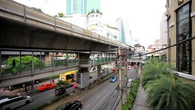 THAILAND 3 august 2015. Sky train in Bangkok with stock footage