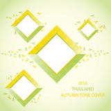 THAILAND AUTUMN TONE COVER. This work is the right color scheme is yellow and green.Blend of Thailand style Royalty Free Stock Photos