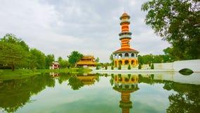 Thailand, Ayuthaya, Bang Pa-In Palace. Tower stock video