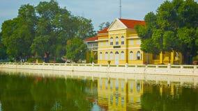 Thailand, Ayuthaya, Knall-Schmerz-Palast. stock footage