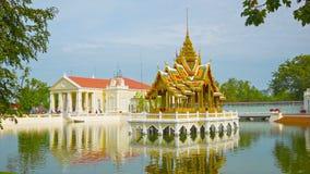 Thailand, Ayuthaya, Knall-Schmerz-Palast stock video footage