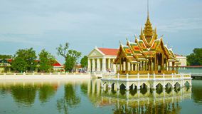 Thailand, Ayuthaya, panorama of Bang Pa-In Palace Royalty Free Stock Images