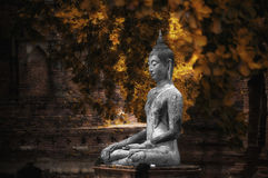 Thailand Ayutthaya Ancient Buddha Statue. Buddha statue at Wat Mahatart Ayutthaya Thailand Royalty Free Stock Photo