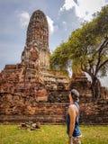 Thailand - Ayutthaya-Mens stock afbeeldingen
