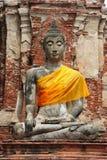 Thailand Ayutthaya Wat Phra Mahathat Stock Images