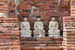 Thailand Ayutthaya wat Phra Mahathat Stock Photo
