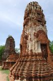 Thailand Ayutthaya wat Phra Mahathat Royalty Free Stock Photos