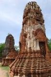 Thailand Ayutthaya wat Phra Mahathat Royalty-vrije Stock Foto's