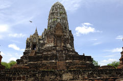 Thailand Ayutthaya Wat Ratburana Or Ratchaburana Royalty Free Stock Photo