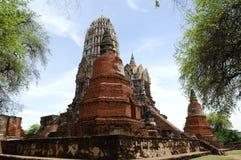 Thailand Ayutthaya wat Ratburana of Ratchaburana Royalty-vrije Stock Foto's