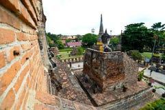 Thailand Ayutthaya Wat Yai Chai Mongkhon royalty-vrije stock afbeelding