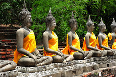 Thailand Ayutthaya Wat Yai Chai Mongkhon Royalty Free Stock Photo