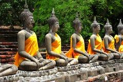Thailand Ayutthaya Wat Yai Chai Mongkhon royalty-vrije stock foto