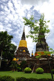 Thailand Ayutthaya Wat Yai Chai Mongkhon Stock Photo