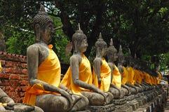 Thailand Ayutthaya Wat Yai Chai Mongkhon Royalty-vrije Stock Foto's