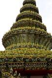 Thailand Azië binnen en het mozaïek van de kleurengodsdienst Stock Fotografie