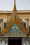 Thailand Azië in de hemel van dak wat paleizen en Royalty-vrije Stock Afbeelding