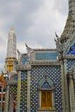 Thailand Azië in de paleizen van het de tempeldak van Bangkok wat Royalty-vrije Stock Afbeelding
