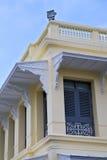 Thailand Azië in de regen van Bangkok kleurt dak wat paleizen Royalty-vrije Stock Foto's