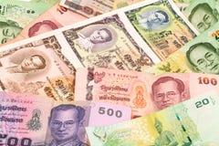 Thailand Baht. Close up of banknotes with king Bhumibol Stock Image