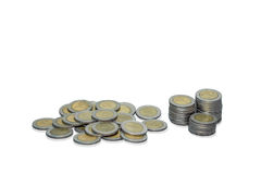 Thailand Baht Coins Stock Images