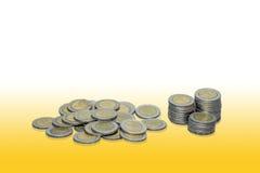 Thailand-Baht-Münzen Lizenzfreies Stockfoto