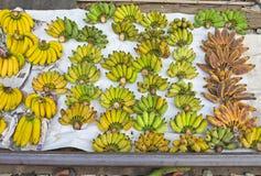 Thailand - Banana fruit market in Maeklong Railway Market Samut Songkram city. Stock Photography