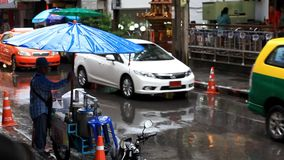 Thailand, Bangkok, 1 August 2014. Cars go on the stock video