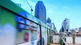 Thailand, Bangkok, 1 August 2014. Cityscape with stock video footage