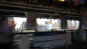 Thailand, Bangkok, 1 August 2014. Looking out the stock video